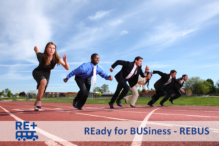 Business people run