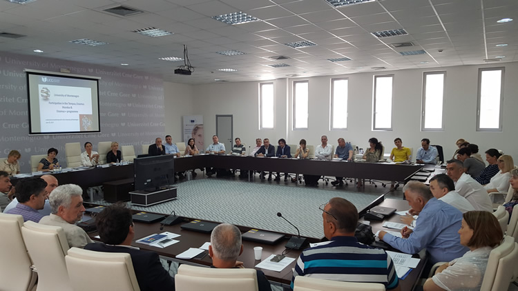 EACEA Institutional visit to University of Montenegro 750